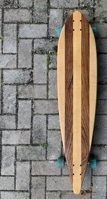 "Longboard, 42"" x 9 1/4"", Maple and Zebrawood"