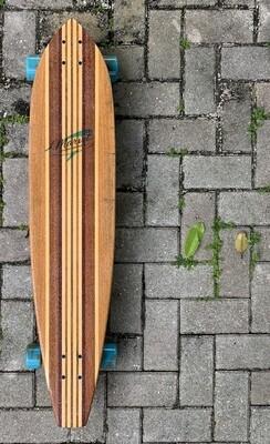 "Longboard, Squaretail, Mixed Solid Hardwoods, 40"" x 8 3/4"""