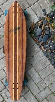"Longboard, 40 1/2"" x 9 1/4"", mahogany, purpleheart"