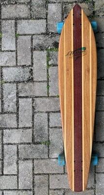 "Longboard, 42 1/4"" x 8 3/4"" hardwood, rounded pintail"