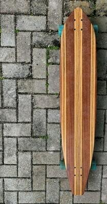 "Longboard, 45 3/4"" x 9"" mahogany, zebrawood"