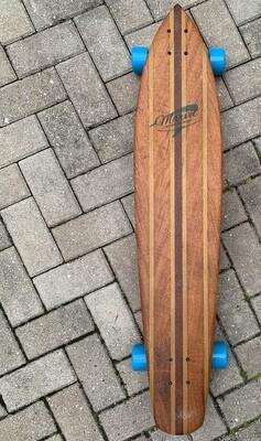 "Longboard, 40 1/2"" x 8 1/2 "", mixed hardwoods"