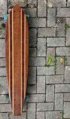 "Longboard, Solid Hardwood, 42"" x 9"", mahogany, purpleheart"