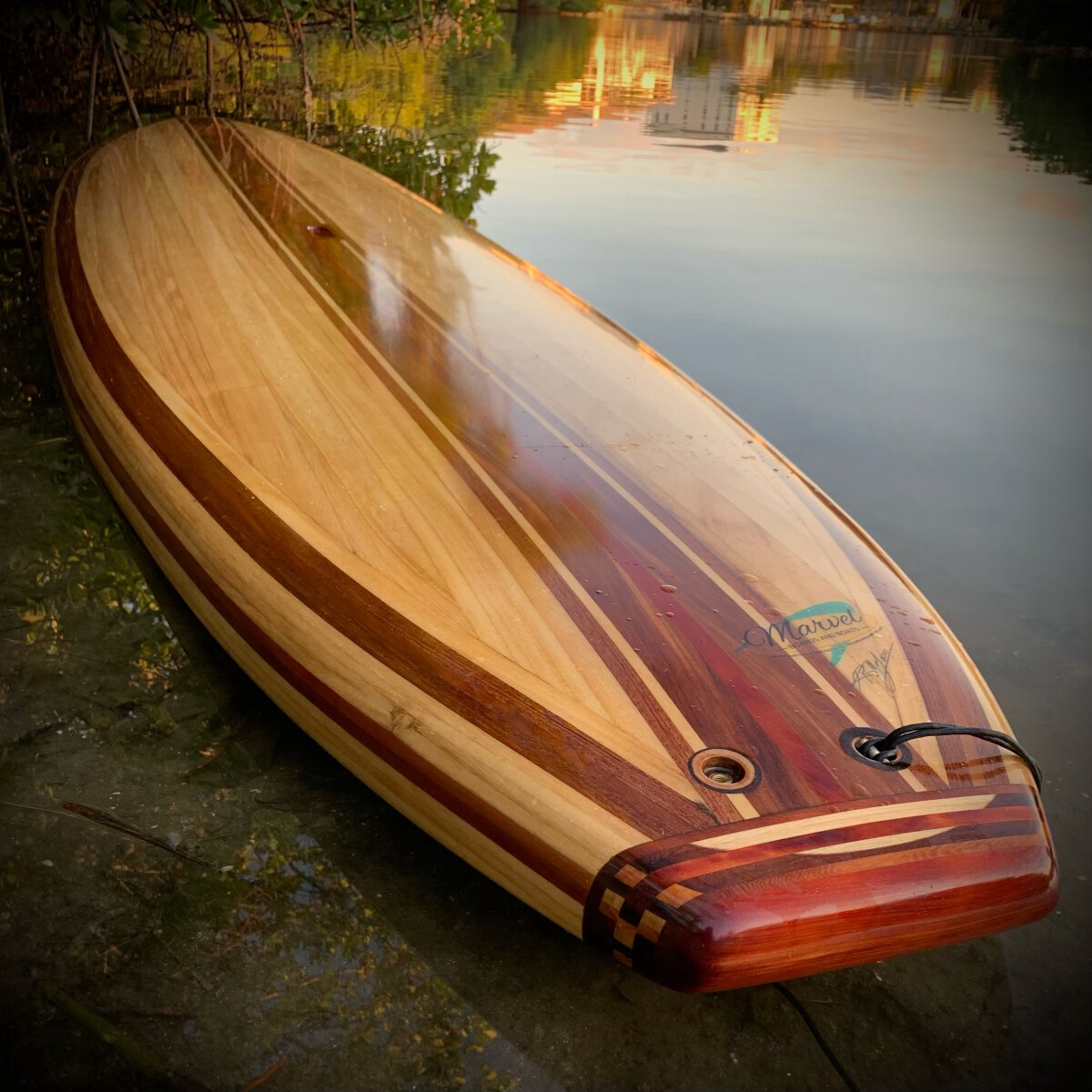 """Hollow wood Paddle Board, 11'3"""" x 32"""" x 4"""""""