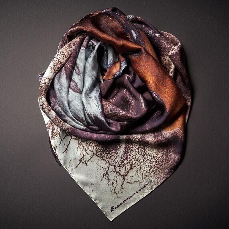 Шелковый платок «Нежность. Радость. Обаяние»