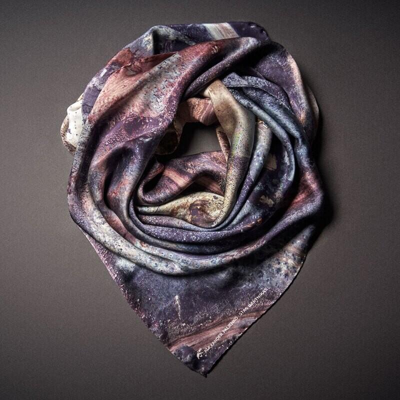 Шелковый платок «Преодоление. Осознанность»