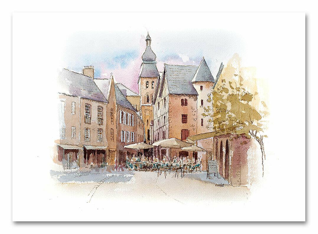 Reproduction d'aquarelle originale Périgord et Quercy