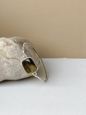 Браслет с янтарем , размер 16