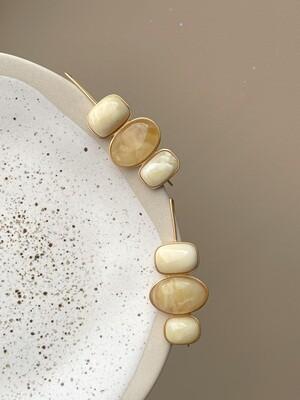 Асимметричные серьги с янтарем Вес 11,60 гр.