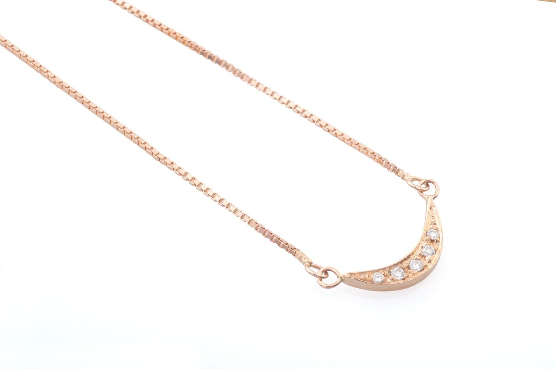 Half Moon Diamonds Necklace