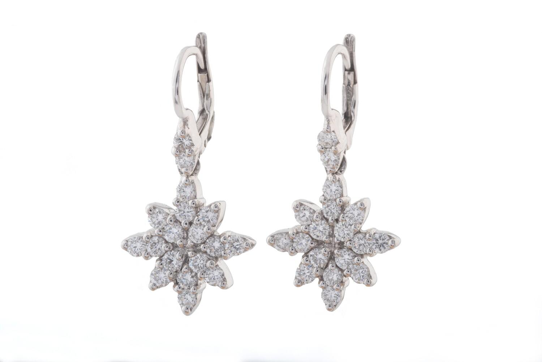 Snowflake Diamonds Earrings