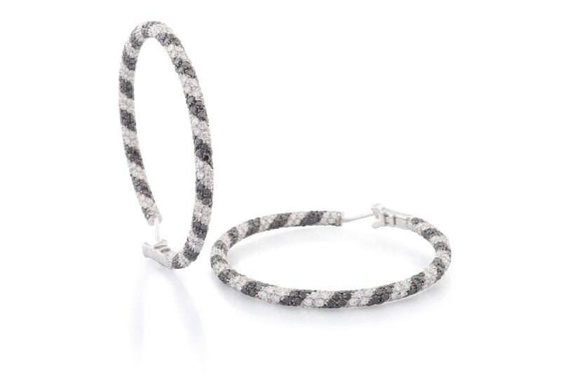 Big Black & White Circle Earrings