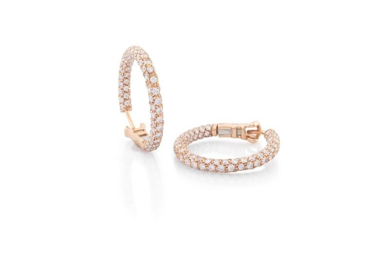 Pavè Rose Gold Earrings