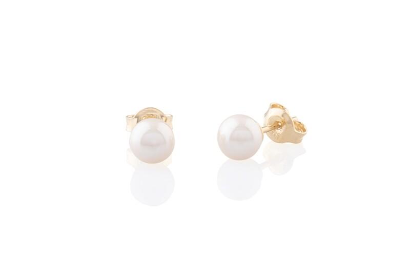 Gold Pearls Earrings