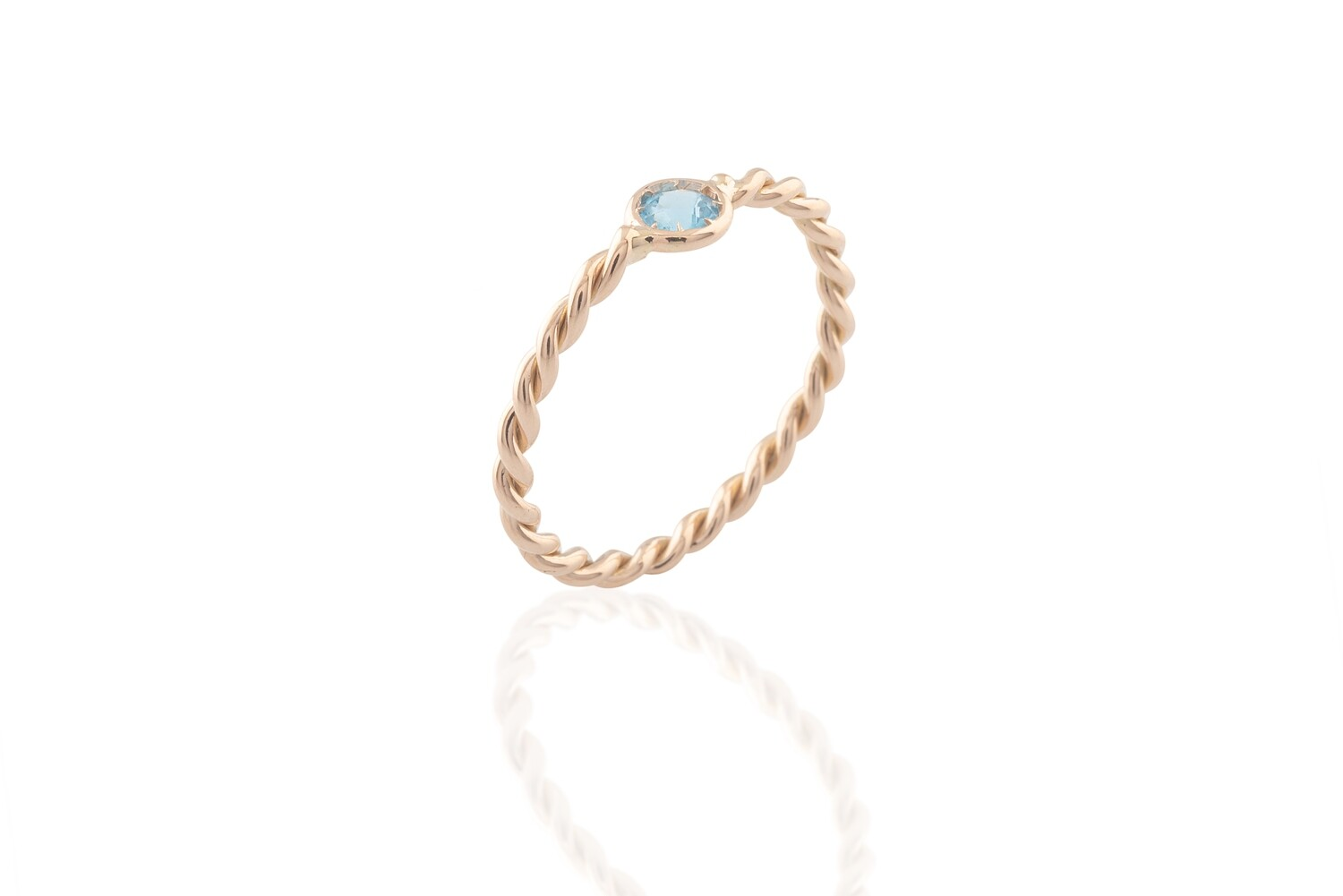 Twined Topaz Ring