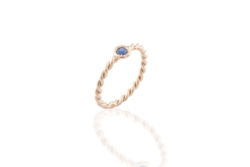Twined Sapphire Ring