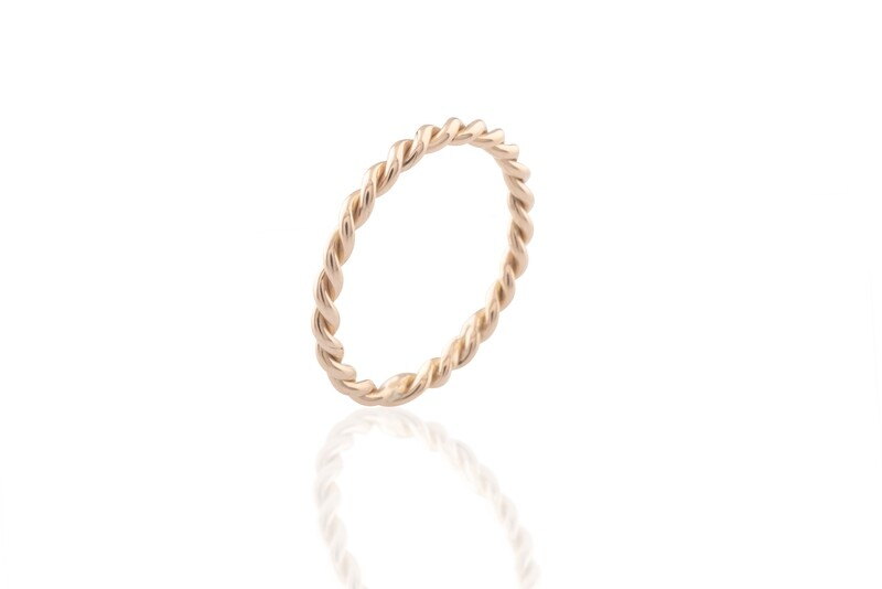 Twined Rose Gold Ring