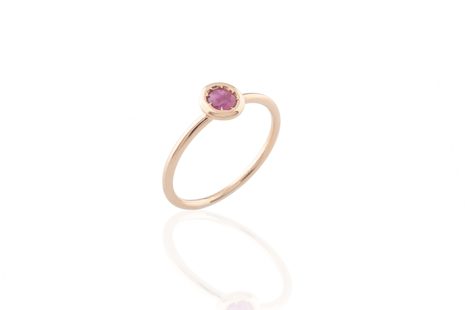 Rose Gold and Ruby Ring