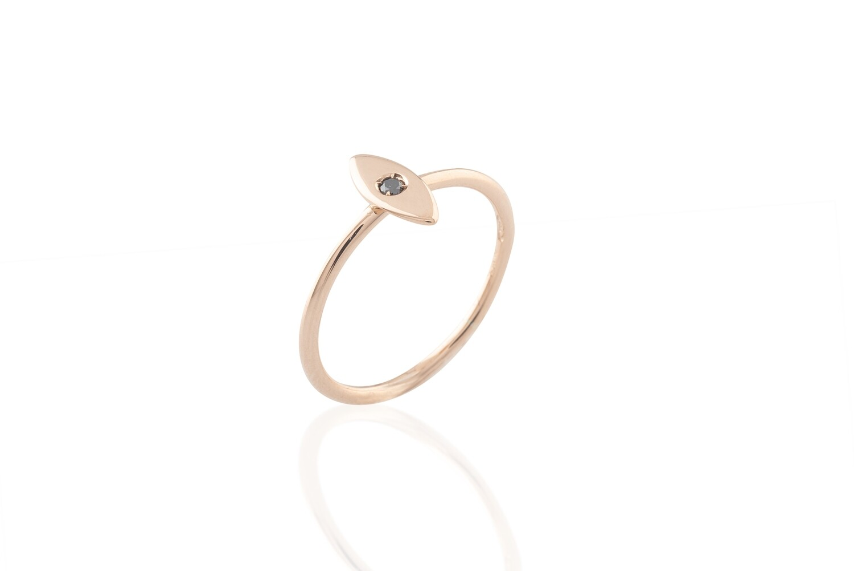 Black Diamond Teardrop Ring