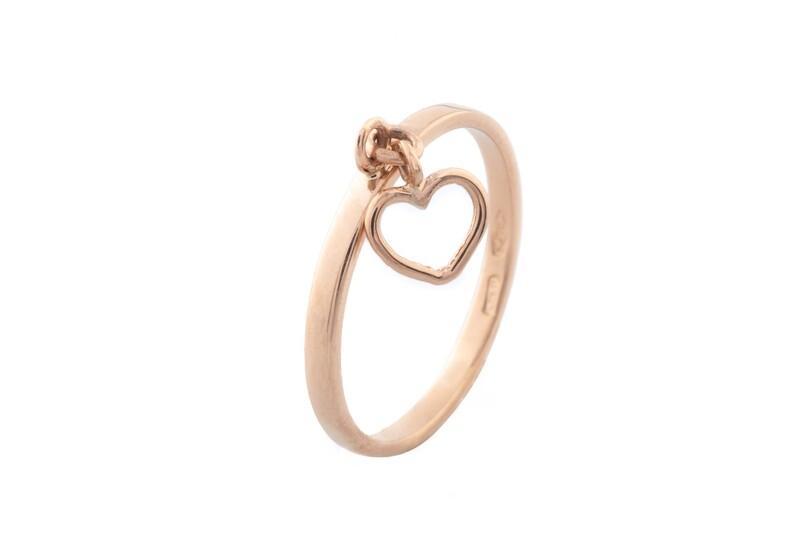 Heart Pendant Ring