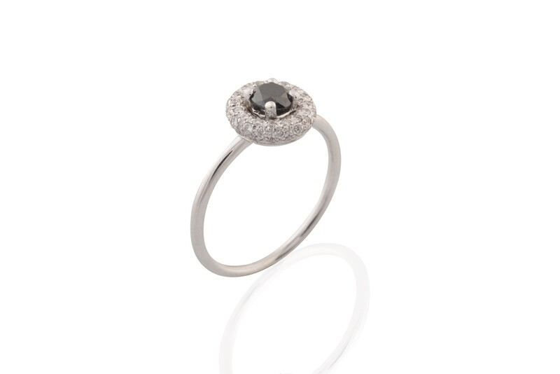 Black Diamond Solitarie Ring