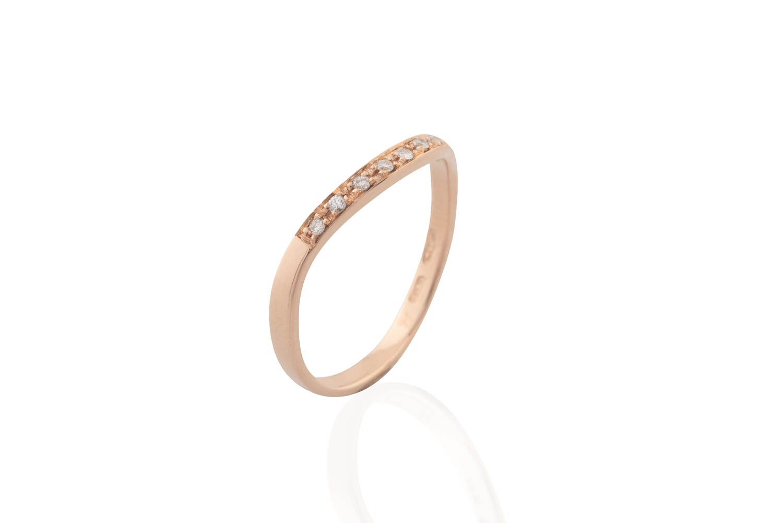Diamonds Wave Ring