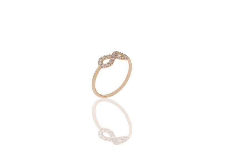 Infinity Rose Gold Diamonds Ring