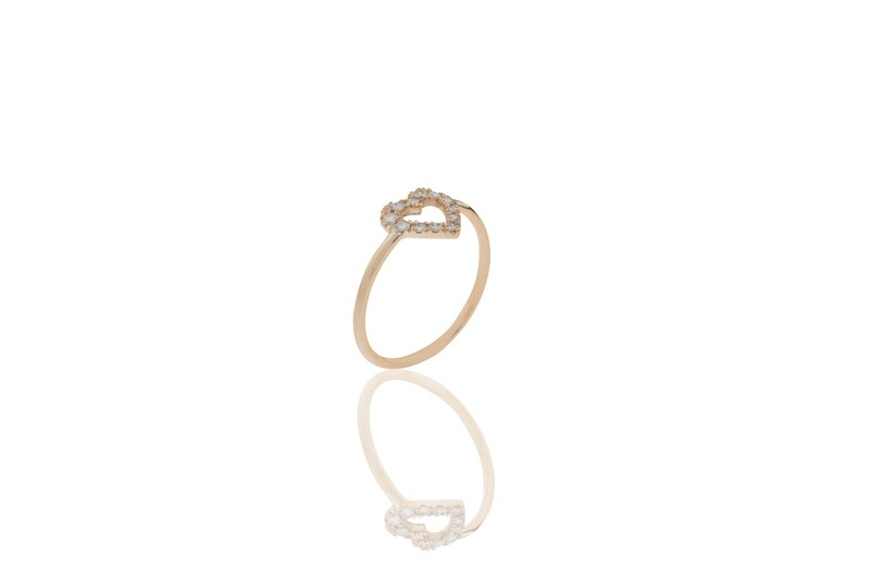 Heart Diamonds Ring