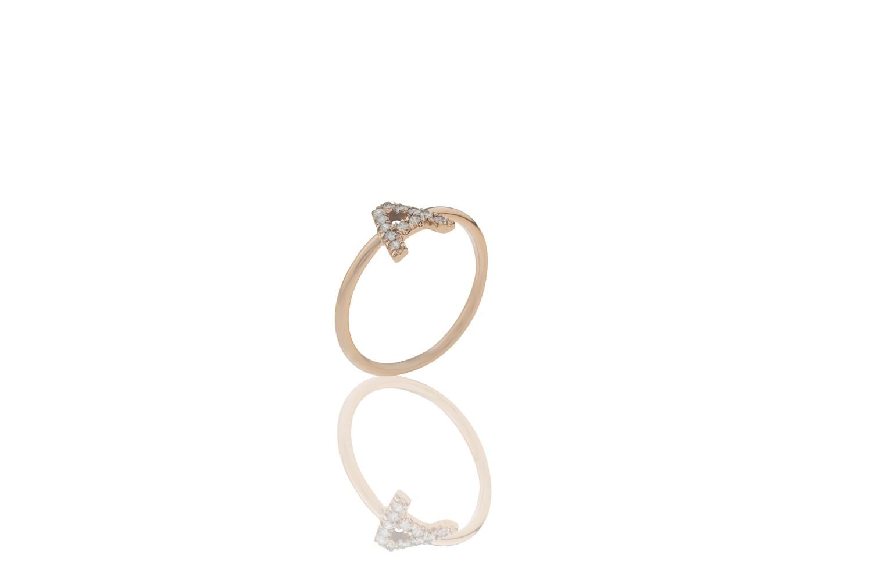 Letter Diamonds Ring