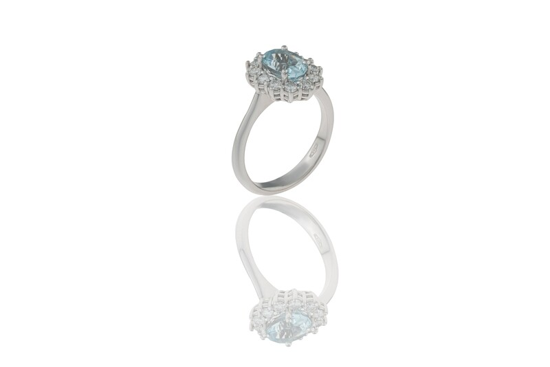Princess Aquamarine Ring