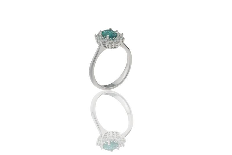 Princess Emerald Ring