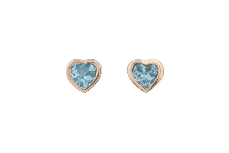 Heart Topazes Earrings