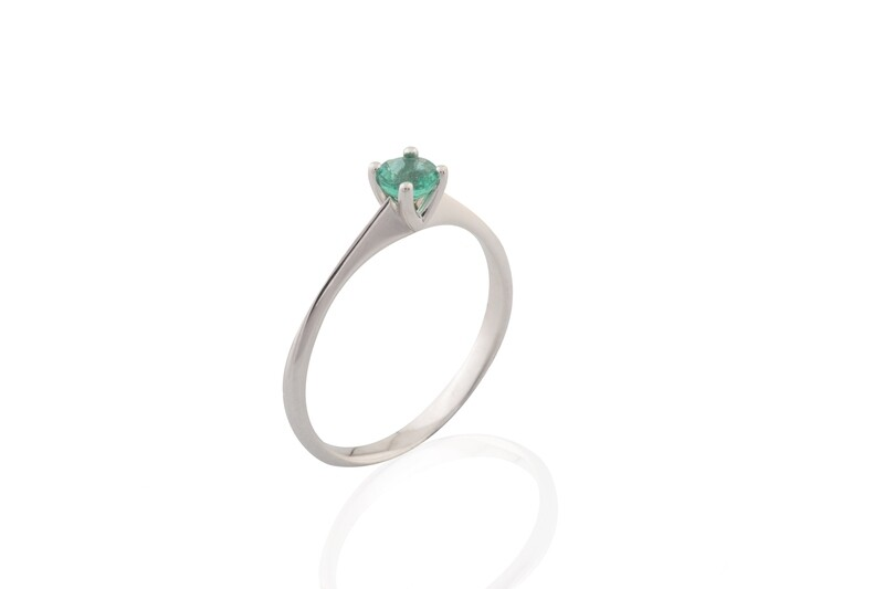 Emerald Solitary Ring