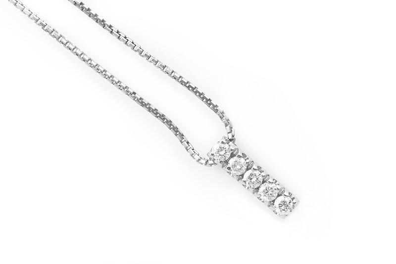 Five Diamonds Necklace