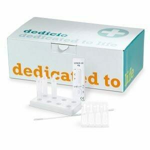 Dedicio® COVID-19 Ag plus Test antigenico orofaringeo e nasale. scatola da 20 test non vendibili singolarmente. Prezzo a test EUR 5.25