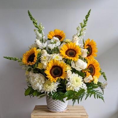 Sunflower Alter Arrangement