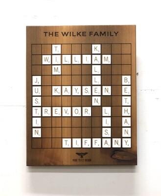 Scrabble Family Name Wall Art
