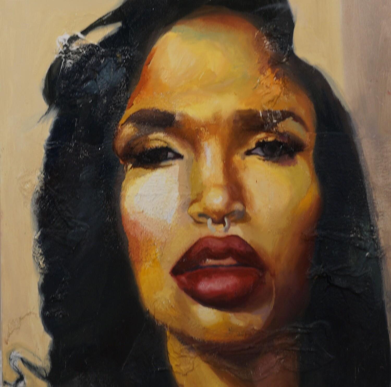 Her Original Oil Painting
