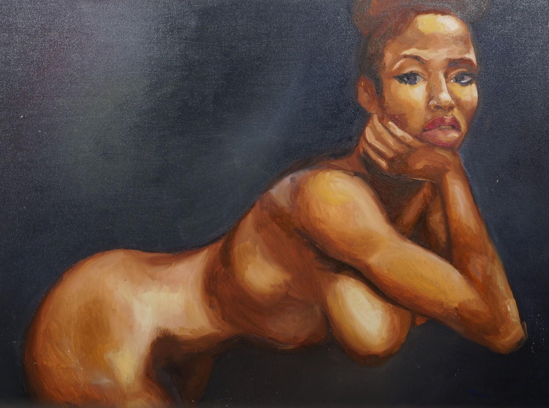 Nude Figure Original Oil Painting