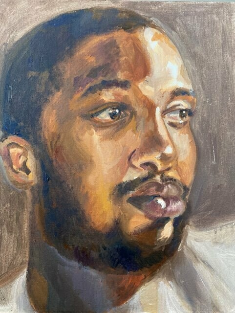 Gaze Original Oil Painting