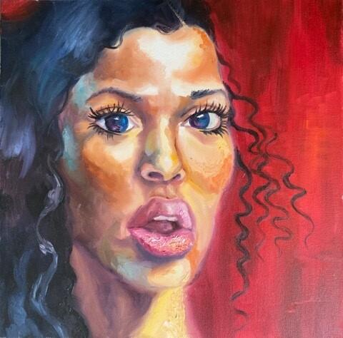 Red Bubblegum Original Oil Painting