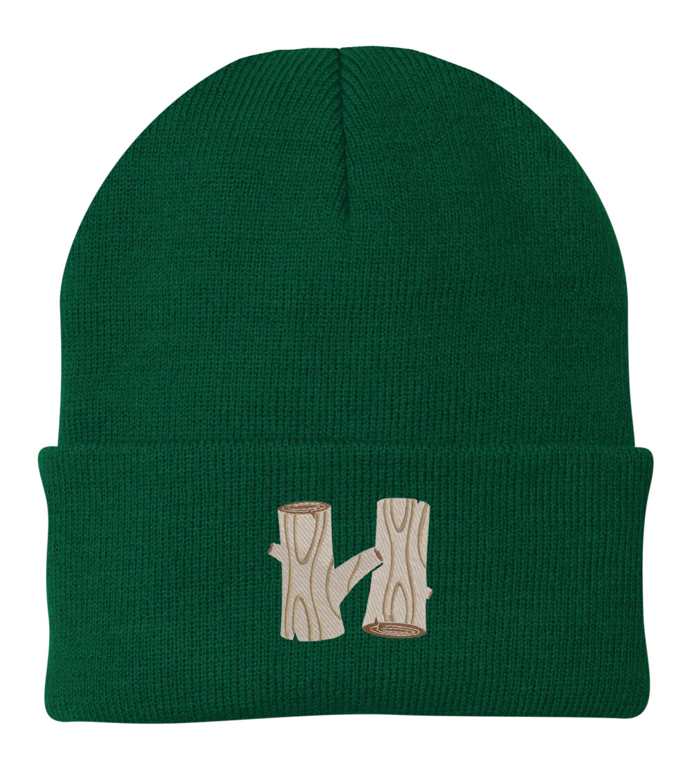 Green Hodia Embroidered H Beanie