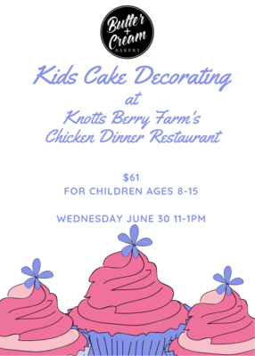 Kids Cake Decorating June 30