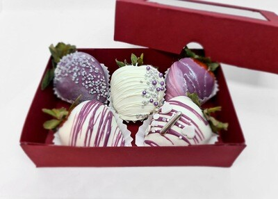 Box of 5 Chocolate Covered Strawberries