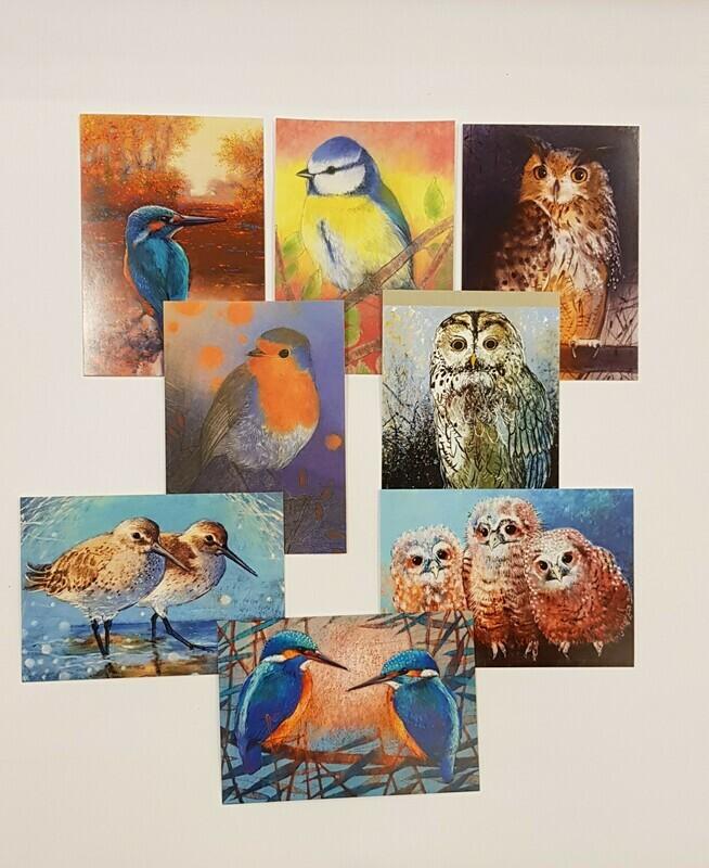 Kaarten met diverse vogels