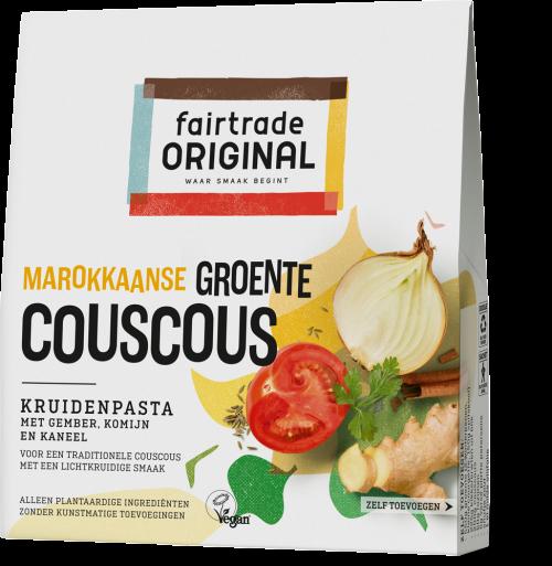 Marokkaanse groente couscous kruidenpasta