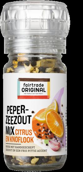 Peper- zeezoutmix met citrus en knoflook