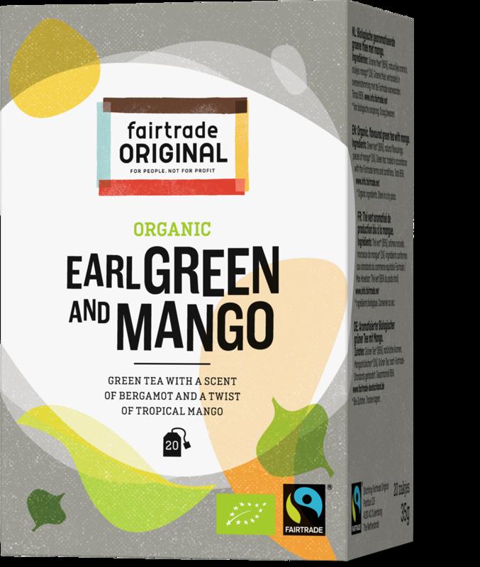 Biologische groene thee met bergamot en een twist van tropische mango.