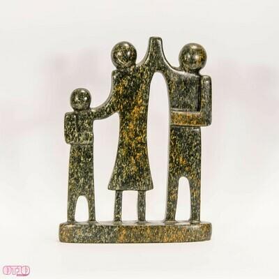 Beel van natuursteen gezin 3 personen