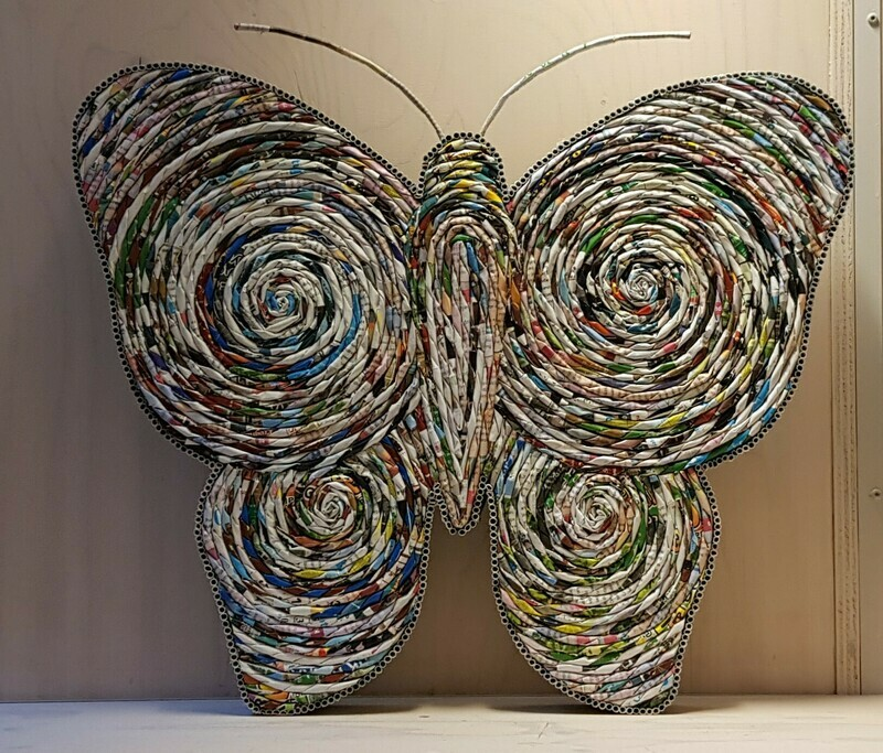 Muurdecoratie Vlinder
